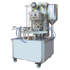 KIS-900 ROTARY TYPE PLASTIC CUP FILLING-SEALING MACHINE