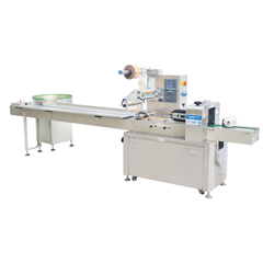 JY-350F Flow wrapping machine with automatic feeder (Special for bearing and tapes)