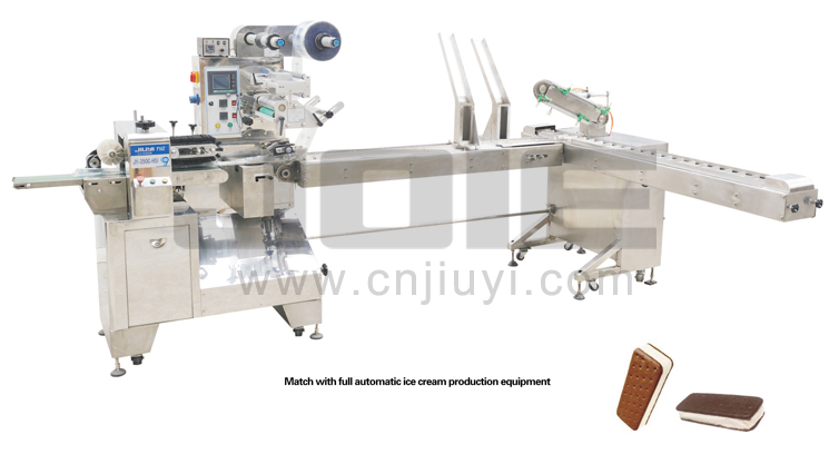 JY-350C-HSI sandwich ice cream making and packaging machine