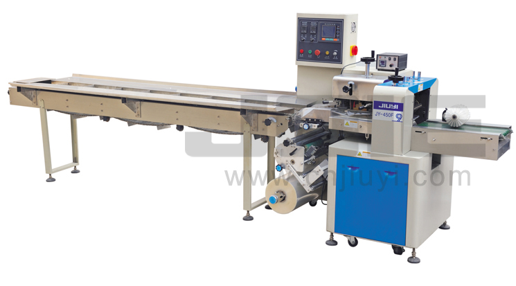 JY-450F Automatic Inverted flow wrapping machine